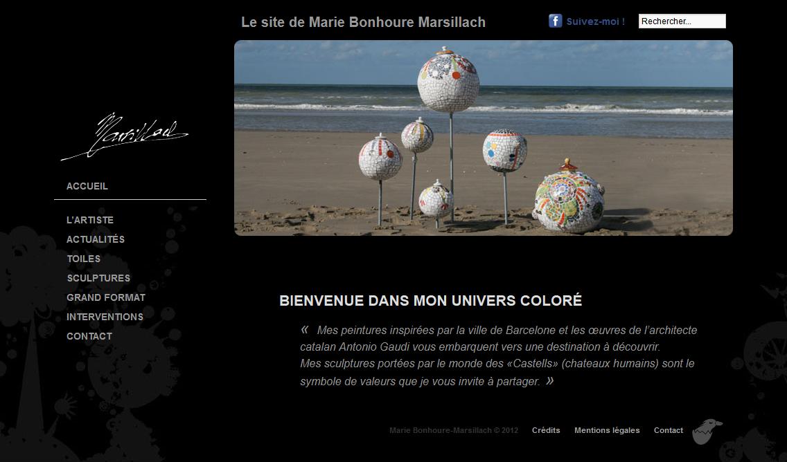 Le site de Marie Bonhoure Marsillach