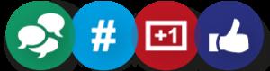 Approche communautaire, Développement de popularité sur les medias sociaux